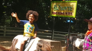 He got to ride a Pony...