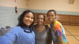 that's me and my mother inlaw and my niece...time for some Zumba class..