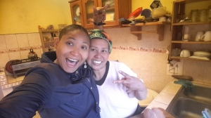 me and our lovely host in the kitchen...this lady can cook some yummy meals..