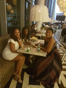 with my girlfriends out in town...at coco lounge.