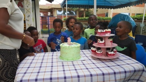 my Godson's brother's birthday bash...he has such a great time and am happy to have been there to celebrate his birthday.