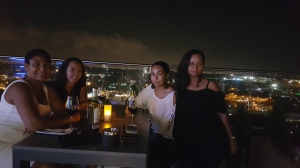 at the sky bar on top of Villagio residence with my girlfriends...what a night to remember.